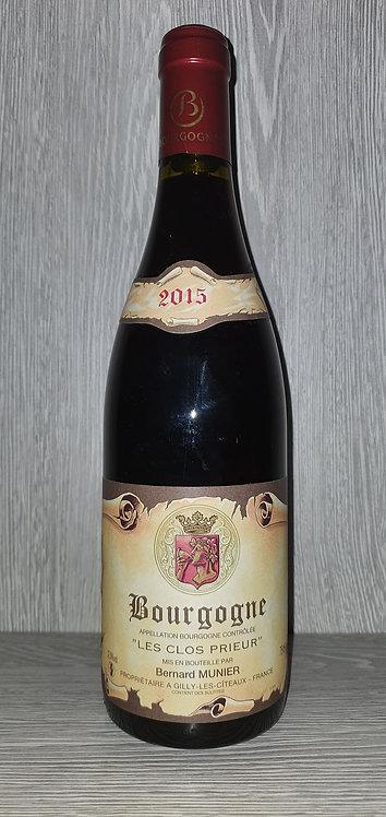 """Bourgogne """"Les Clos Prieur"""" 2015 (75 cl) - Domaine Bernard Munier"""