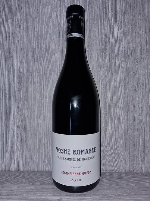 """Vosne Romanée """"Les Charmes de Mazières"""" 2018 (75 cl) - Domaine Jean-Pierre Guyon"""