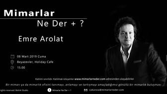 Emre Arolat Çukurova Üniversitesi'nde Konuşulacak