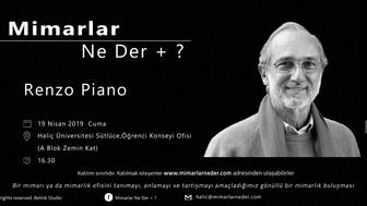 Renzo Piano Haliç Üniversitesi'nde Konuşuluyor!