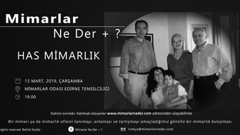 Has Mimarlık Trakya Üniversitesi'nde Konuşulacak!