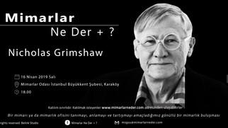 Nicholas Grimshaw MSGÜ'de konşuluyor !