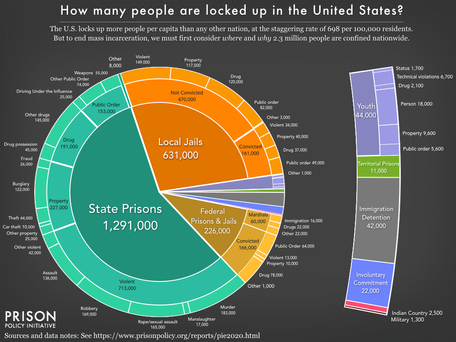 """As Pandemic Threatens to Devastate Prison Population, New Report Provides Updated """"Big Picture"""" View"""