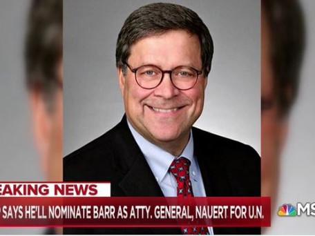 President Trump's Nomination of William Barr
