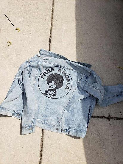 Free Angela Reclaimed Denim Jacket - XL - Light Wash