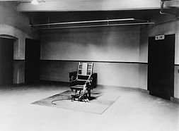 Death chamber and electric chair at Sing