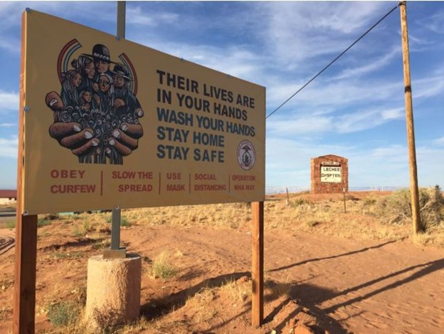 Navajo Nation COVID sign