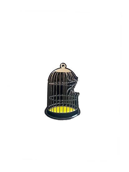 Broken Cage Enamel Pin