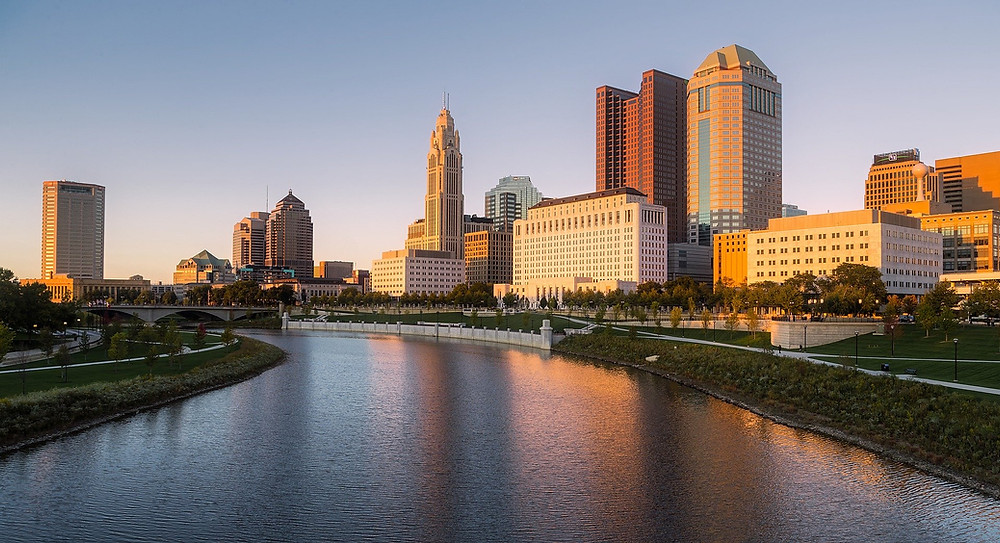 Columbus Ohio City Skyline at Dawn