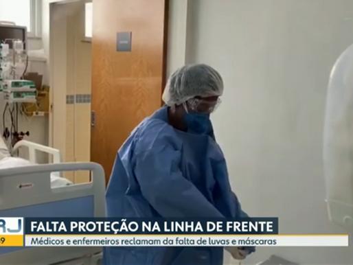 Médicos e enfermeiros reclamam da falta de equipamentos de proteção no RJ