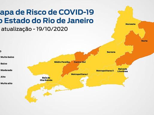Novo Mapa de Risco mantém Estado do Rio classificado como baixo risco para Covid-19