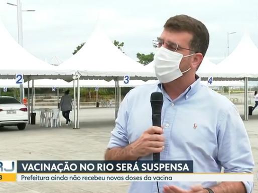 Prefeito do Rio diz que vai suspender vacinação contra a Covid-19 na quarta-feira por falta de doses