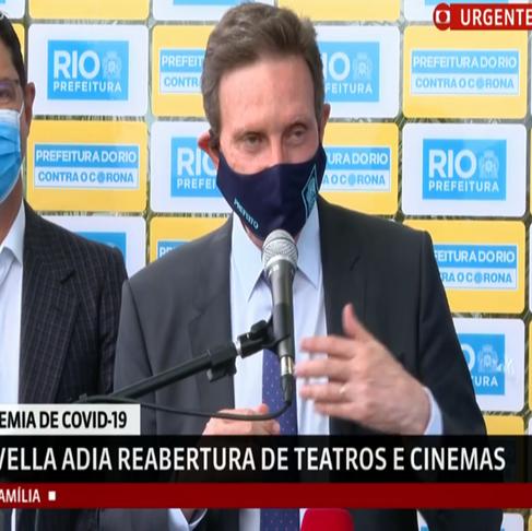 Prefeitura prorroga a Fase 5 da flexibilização no Rio; teatros e cinemas seguem fechados