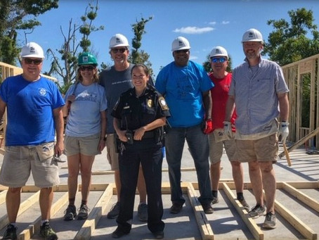 Diocesan clergy lend a hand to Habitat for Humanity