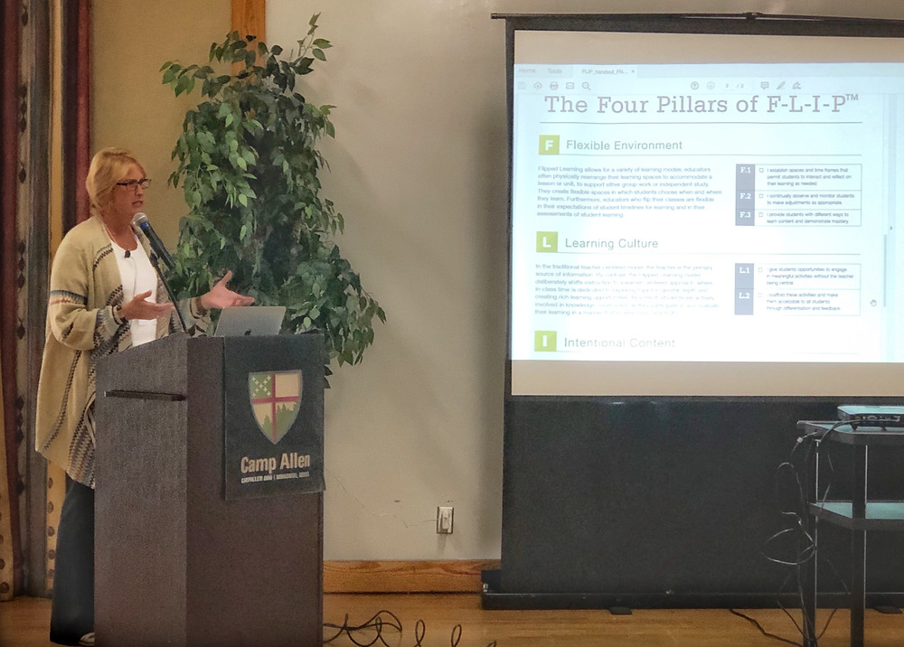 Joy Blaylock speaks on the Four Pillars of FLIP at Iona Collaborative Conference