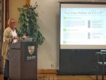 Dean Joy Blaylock gives keynote presentation at Iona Collaborative Conference