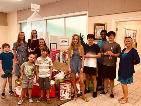 St. Jude's youth celebrate Christmas in July