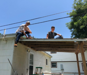 James and Connor replace a roof in Houston