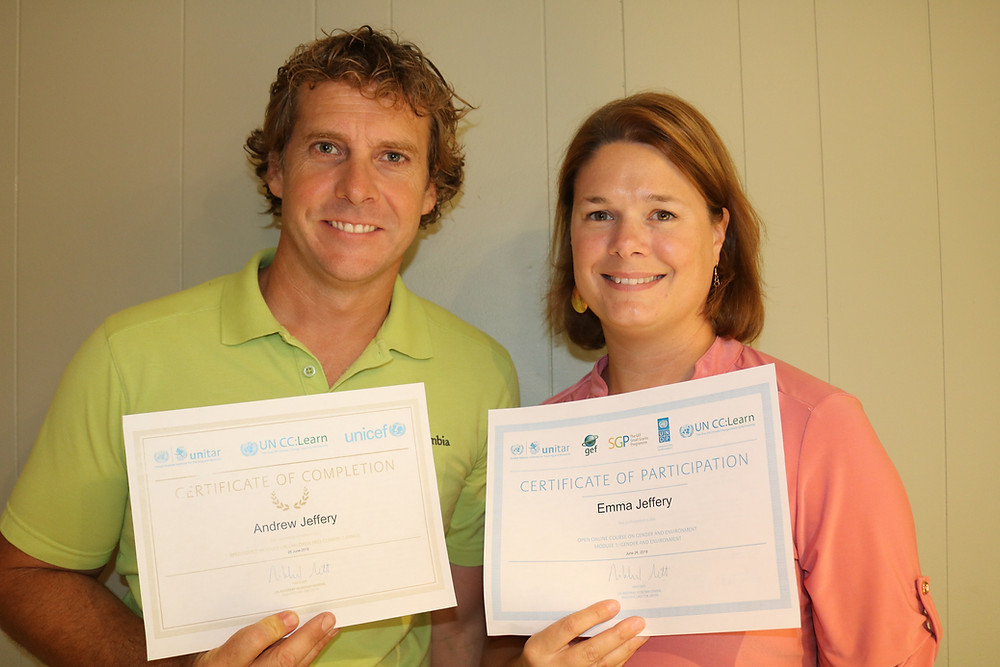 Andrew (AJ) and Emma Jeffery become certified climate change educators