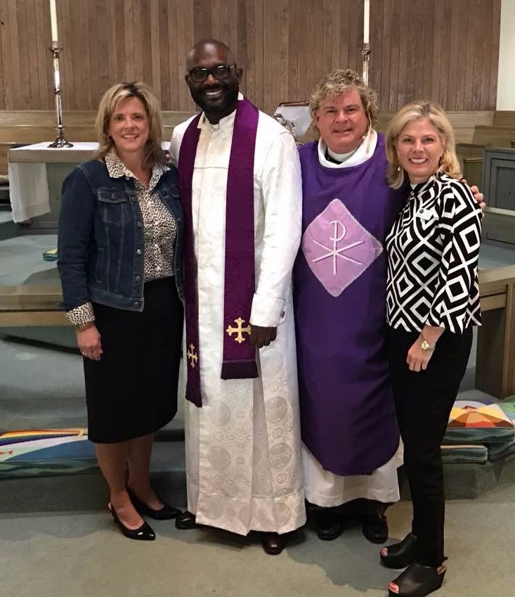 Ann Crow, Rev. William H. Lamar IV, the Rev. R. Barry Crow, and Eleanor Reeves