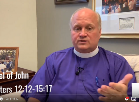 Bishop Russell Reflects on John 12:12-15:17