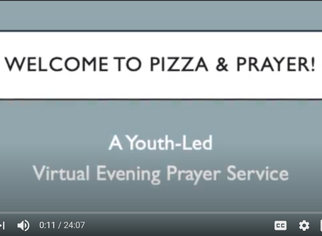 Virtual Youth Evening Prayer Service on October 3 at 6:30pm