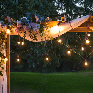 Night Time Wedding Ceremony Lighting