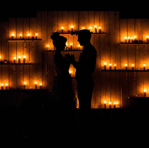Candle-Lit Decor Backdrop