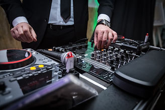 Wedding DJ/MC with DJ Decks and Micropho