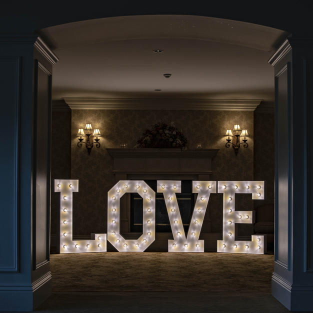 Marquee Letters at Wedding
