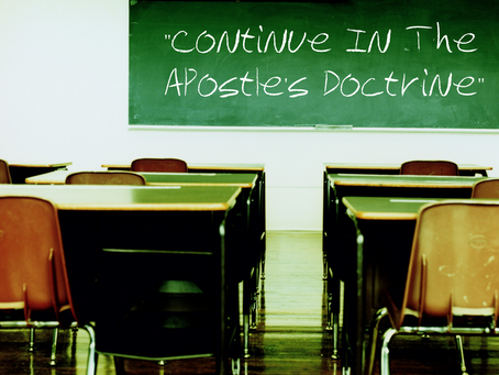 Continue in the Apostles' Doctrine