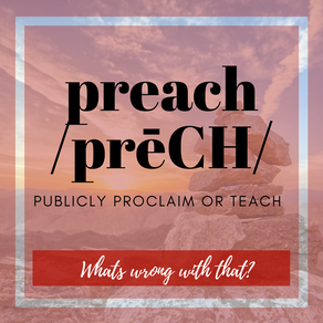 A Letter to the Christian Writing World: What is Wrong with The Preach?