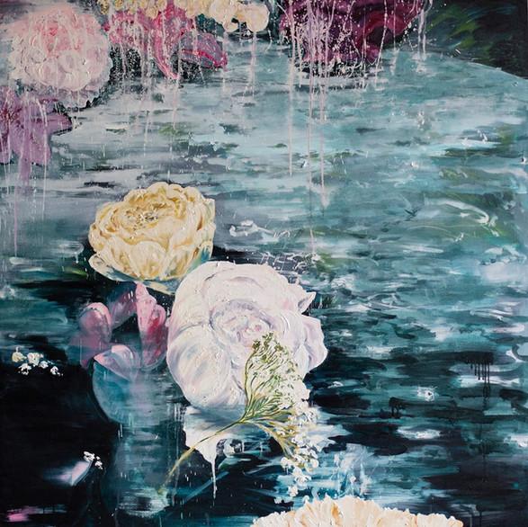 Elixir 120cm x 120cm   Oil on canvas