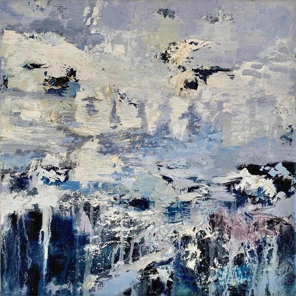 Dissolving margins 40cm x 40cm   Oil on canvas