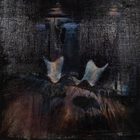 Midnight Butterflies | Oil On Panel | 40cm x 40cm