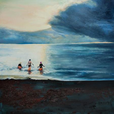 Wild Swannies | Oil On Canvas | 70cm x 70cm