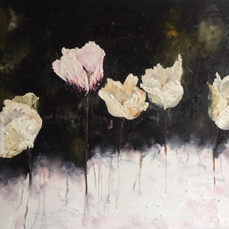 Fleurs 100cm x 100cm | Oil on canvas | SOLD