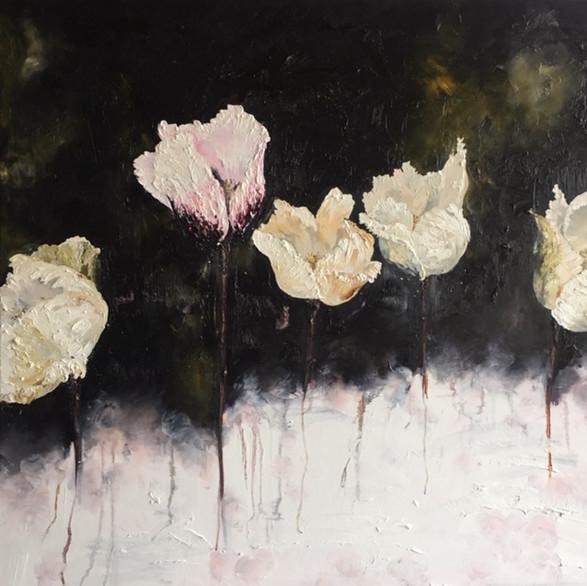 Fleurs 100cm x 100cm   Oil on canvas   SOLD
