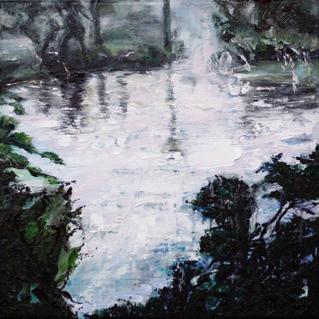 Scented Pool | 40cm x 40cm | Oil on Canvas