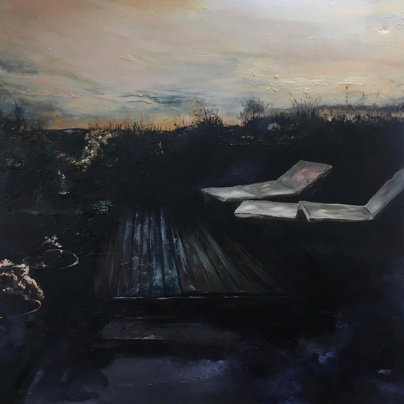 Loungers - Oil On Canvas 100cm x 100cm