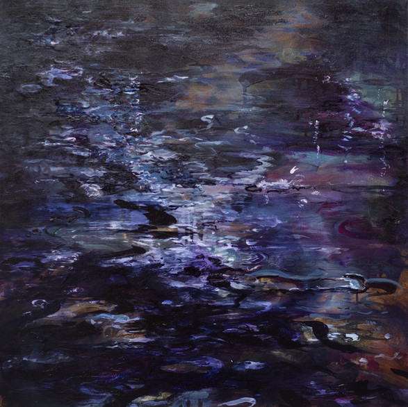 Dark waters | 60cm x 60cm | Oil on canvas