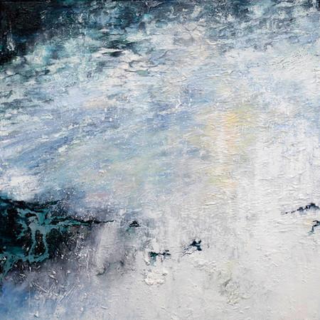 Frozen Lake | 50cm x 50cm | Oil On Canvas