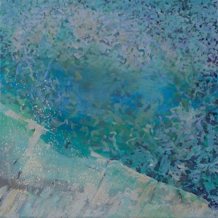 SOLD | Languid Pool | 50cm x 50cm | Oil On Canvas