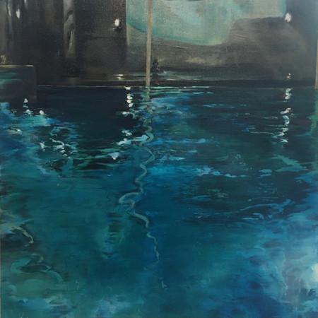 Early swim | Oil on canvas | 50cm x 50cm