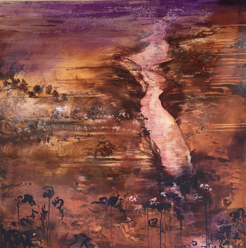'It was only a dream' 90cm x 90cm
