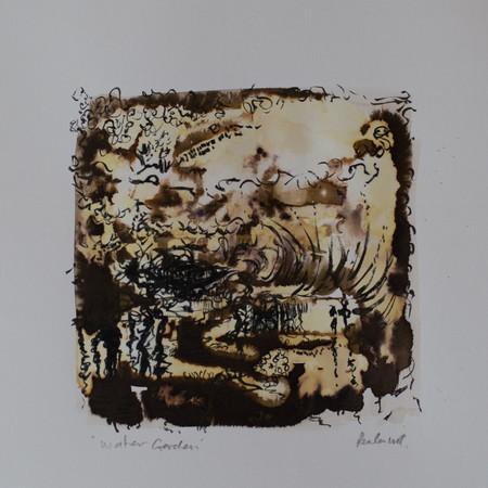 Water Garden 16cm x 16cm | Ink on paper