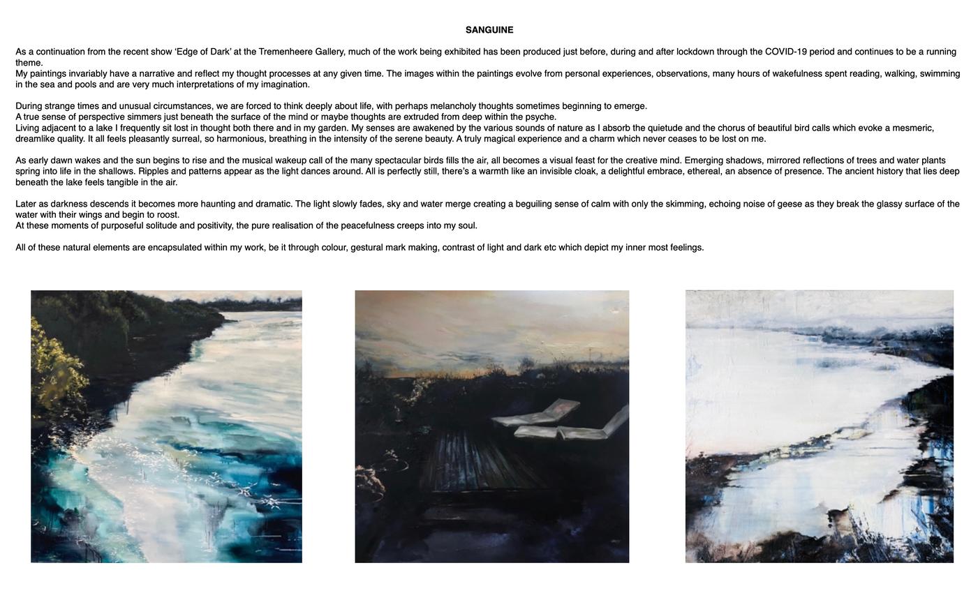 Sanguine Exhibition | Paula Whitbread-Roberts Artist