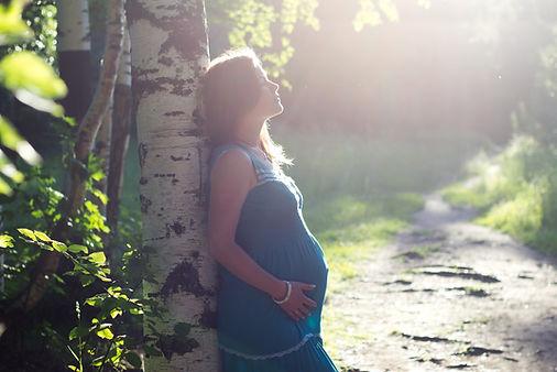 Pregnant Woman by Birch