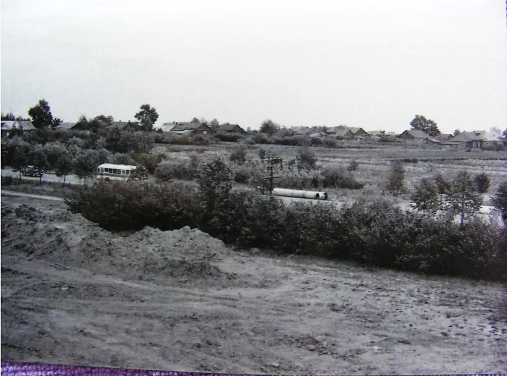 Belyaevo village (now metro Belyavo area), 1950th