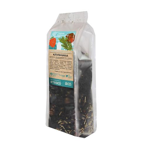 Клубника с розмарином, черным индийским чаем и шишками, 100гр.